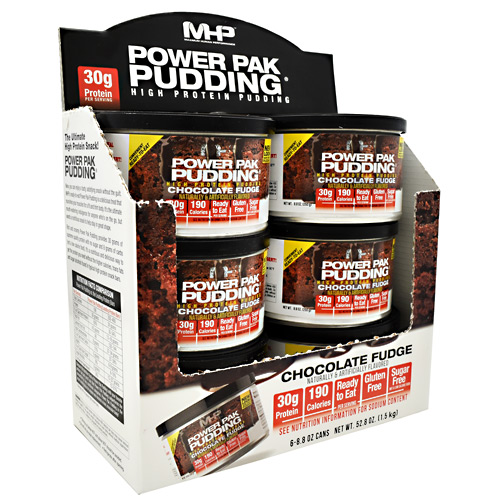 MHP Power Pak Pudding - Chocolate - 6 ea