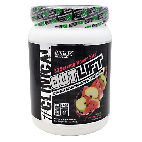 Nutrex Research Outlift - Apple Watermelon - 30 ea
