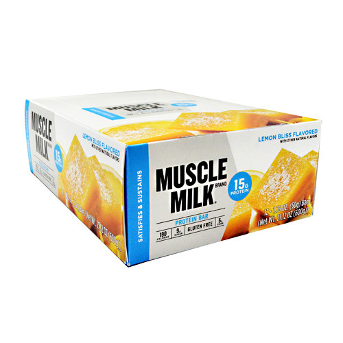 CytoSport Blue Muscle Milk Bar - Lemon Bliss - 12 ea