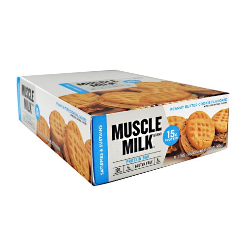 CytoSport Blue Muscle Milk Bar - Peanut Butter Cookie - 12 ea