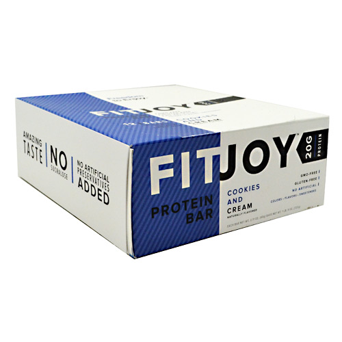 FitJoy Nutrition FitJoy Bar - Cookies and Cream - 12 ea