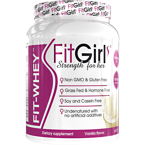Fit Girl Fit-Whey - Vanilla - 23 ea
