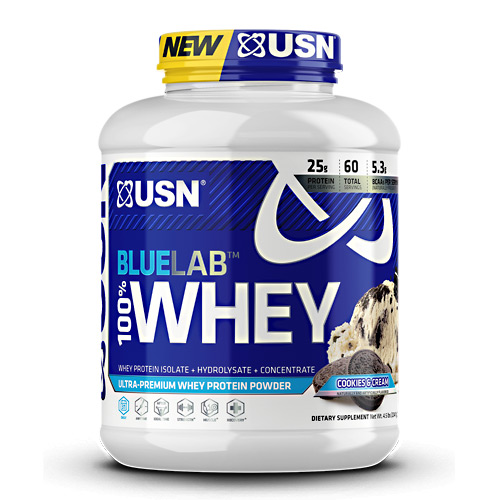 USN Blue Lab 100% Whey - Cookies & Cream - 4.5 lb