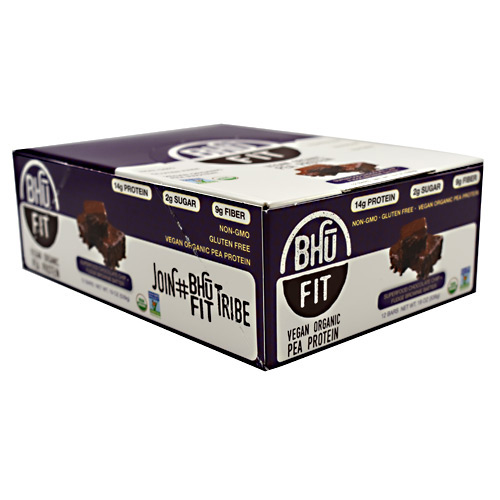 BHU Foods Vegan BHU Fit Bar - Superfood Chocolate Chip + Fudge Brownie Batter - 12 ea