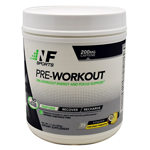 NF Sports Pre-Workout - Coconut Pineapple - 25 ea