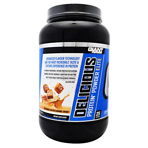 Giant Sports Products Delicious Protein Elite - Delicious Salted Caramel Shake - 2 lbs