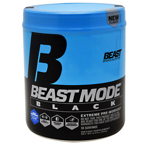 Beast Sports Nutrition Beast Mode Black - Blue Raspberry - 30 ea