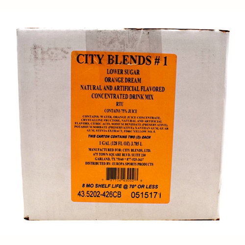 City Blends Concentrated Drink Mix - Orange Dream - 2 ea