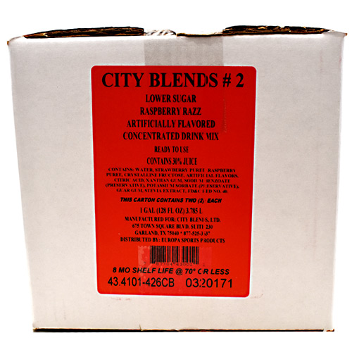 City Blends Concentrated Drink Mix - Raspberry Razz - 2 gallon