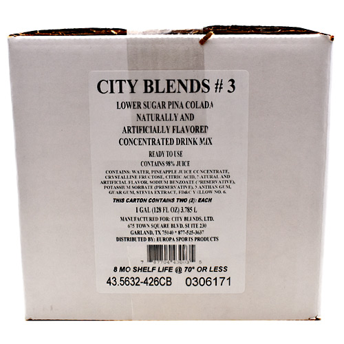 City Blends Concentrated Drink Mix - Pina Colada - 2 gallon