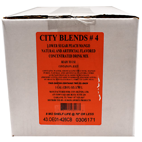 City Blends Concentrated Drink Mix - Peach Mango - 2 gallon