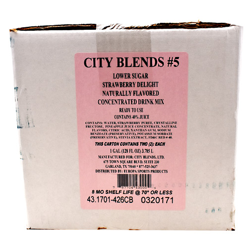City Blends Concentrated Drink Mix - Strawberry Delight - 2 gallon