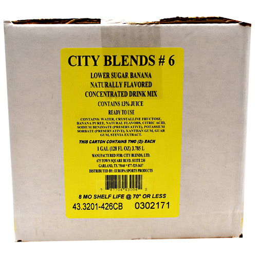 City Blends Concentrated Drink Mix - Banana - 2 gallon