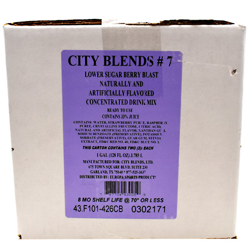 City Blends Concentrated Drink Mix - Berry Blast - 2 gallon