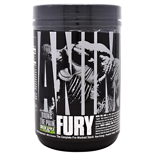Universal Nutrition Animal Fury - Green Apply - 30 ea