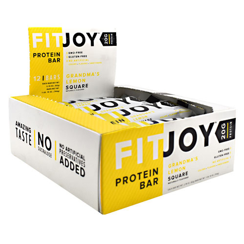 FitJoy FitJoy Bar - Grandma's Lemon Square - 12 ea