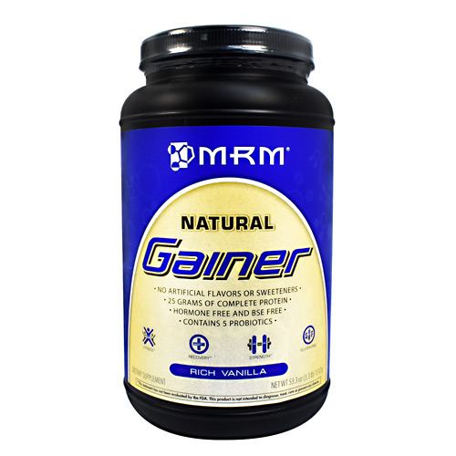 MRM Natural Natural Gainer - Rich Vanilla - 3.3 lb