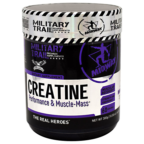 Midway Labs Military Trail Premium Supplements Creatine - Unflavored - 60 ea