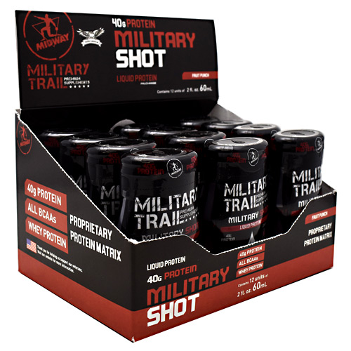 Midway Labs Military Trail Premium Supplements Military Shot - Fruit Punch - 12 ea