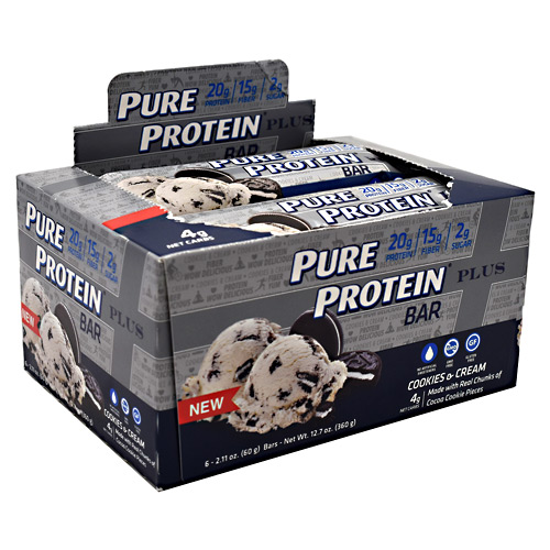 Pure Protein Pure Protein Plus Bar - Cookies & Cream - 6 ea