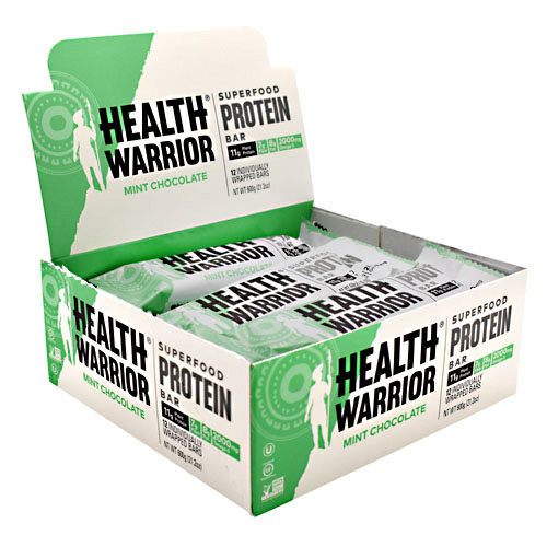 Health Warrior Superfood Protein Bar - Mint Chocolate - 12 ea
