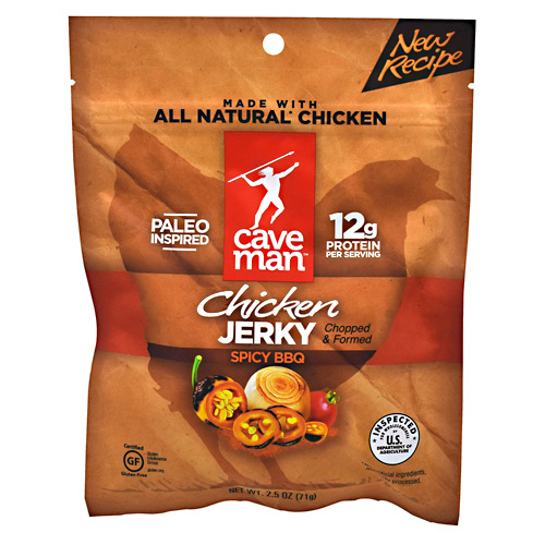 Caveman Foods Chicken Jerky - Spicy BBQ - 12 ea