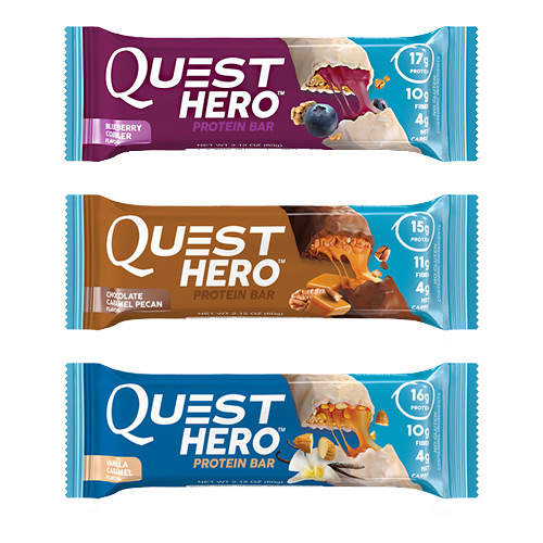 Quest Nutrition Hero Bar Shipper - Variety - 12 ea