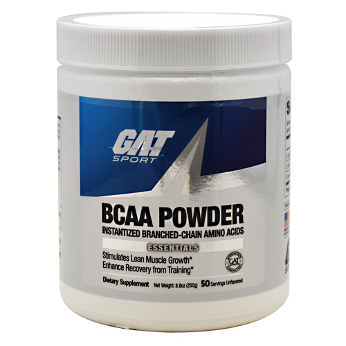 GAT Sport BCAA Powder - Unflavored - 50 ea