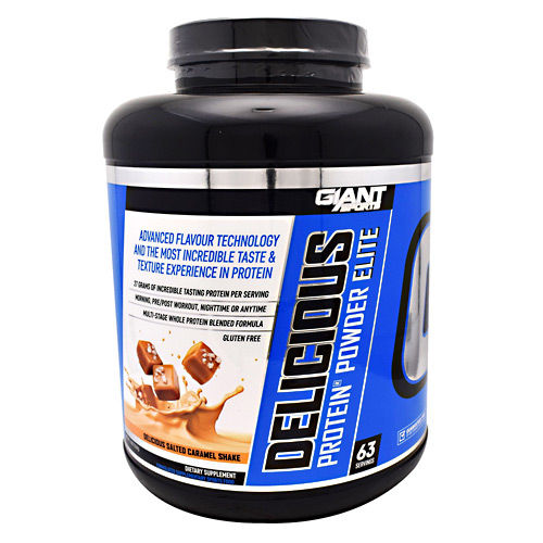 Giant Sports Products Delicious Protein Elite - Delicious Salted Caramel Shake - 5 lbs
