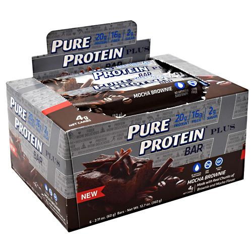 Pure Protein Pure Protein Plus Bar - Mocha Brownie - 6 ea