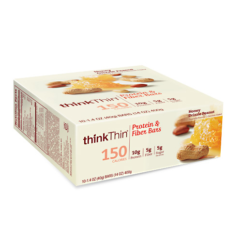 Think Products Think Thin Lean - Honey Drizzle Peanut - 10 ea