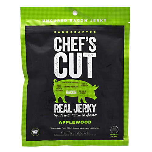 Chefs Cut Real Jerky Real Bacon Jerky - Applewood - 2 oz
