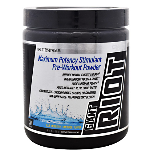 Giant Sports Products Giant Riot - Blue Raspberry Lemonade - 30 ea
