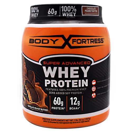 Body Fortress Super Advanced Whey Protein - Chocolate Peanut Butter - 2 lb
