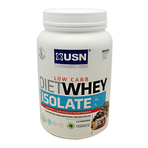 Ultimate Sports Nutrition Cutting Edge Series Diet Whey Isolate - Cinnamon Bun - 25 ea