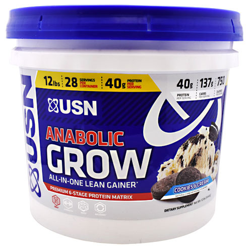USN Anabolic Grow - Cookies & Cream - 12 lbs