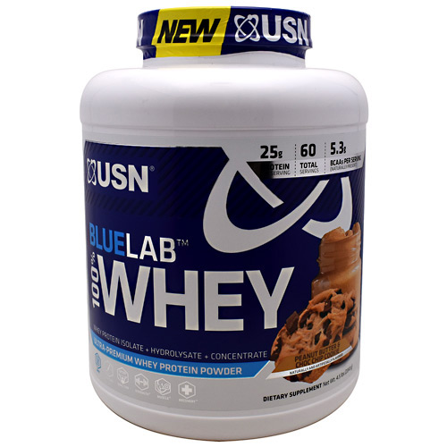USN Blue Lab 100% Whey - Peanut Butter & Choc Chip Cookie - 4.5 lb