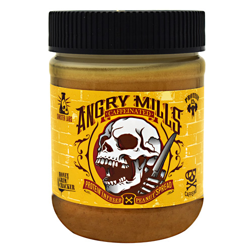Sinister Labs Caffeinated Angry Mills Peanut Spread - Honey Grim Cracker - 12 oz
