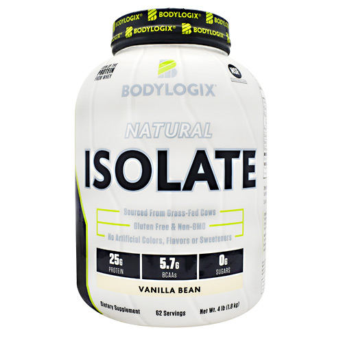 BodyLogix Natural Isolate Protein - Vanilla Bean - 4 lbs