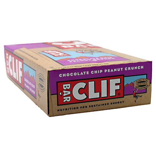 Clif Bar Energy Bar - Chocolate Chip Peanut Crunch - 12 ea