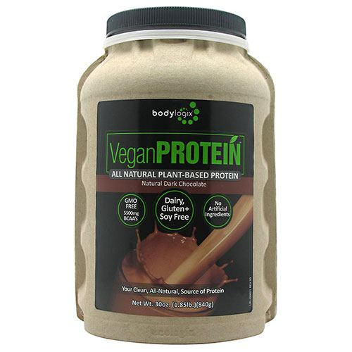 BodyLogix Alll Natural Plant-Based Protein - Natural Dark Chocolate - 1.85 lb