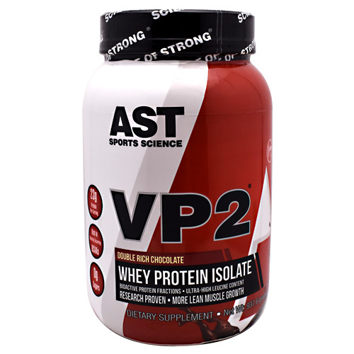 AST Sports Science VP2 Whey Protein Isolate - Double Rich Chocolate - 2.07 lb