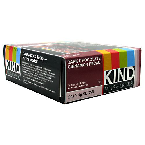 Kind Snacks Kind Bar - Dark Chocolate Cinnamon Pecan - 12 ea