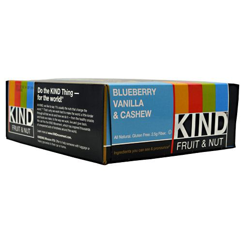 Kind Snacks Kind Fruit & Nut - Blueberry Vanilla & Cashew - 12 ea