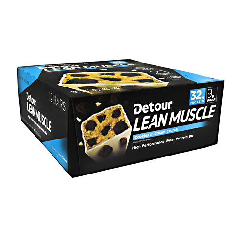 Detour Lean Muscle Bar - Cookies n' Cream Crunch - 12 ea