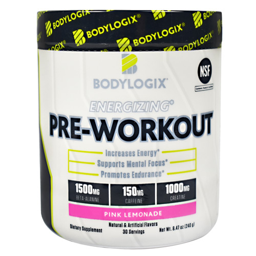 BodyLogix Energizing Pre-Workout - Pink Lemonade - 30 ea