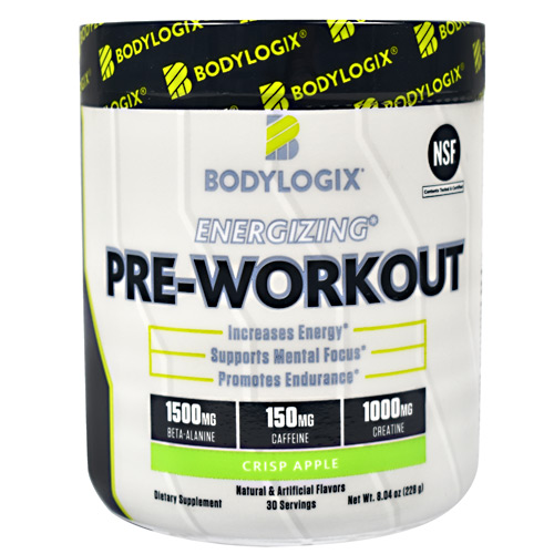 BodyLogix Energizing Pre-Workout - Crisp Apple - 30 ea