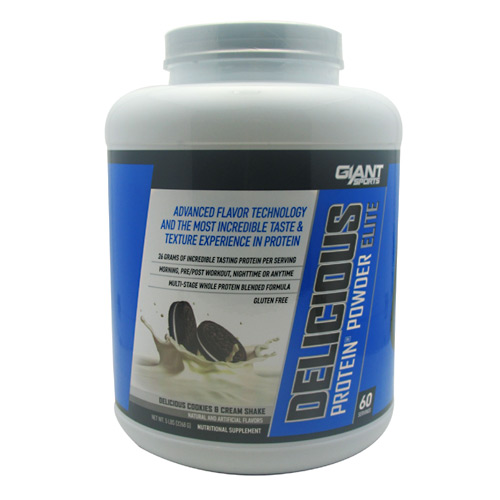 Giant Sports Products Delicious Protein - Delicious Cookies and Creme Shake - 5 lb