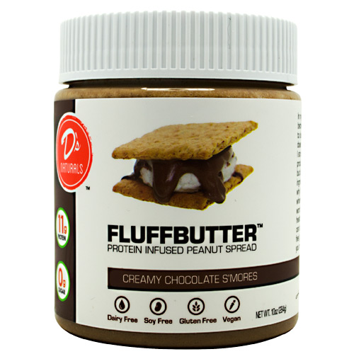 Ds Naturals Fluffbutter - Creamy Chocolate S'mores - 10 oz