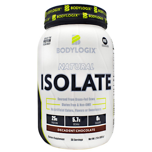BodyLogix Natural Isolate Protein - Decadent Chocolate - 2 lbs